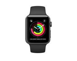 Apple Watch Series 1 38mm Space Gray Aluminum Case with Black Sport Band